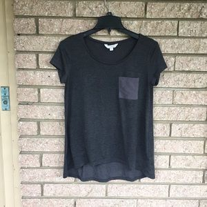 Charming charlie charcoal tshirt with pocket